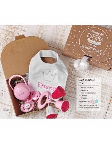 Caja regalo personalizada Nº2 de 6 a 36 meses - Cajas regalo para bebés personalizadas