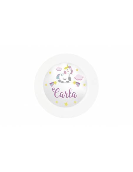 Vajilla bebé personalizada UNICORNIO - Vajillas para bebé personalizadas