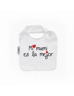 """Babero personilazado """"Mi mami es la mejor"""""""