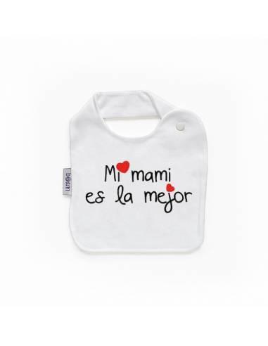 """Babero personilazado """"Mi mami es la mejor"""" - Baberos personalizados divertidos"""