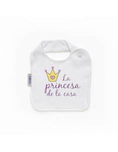 """Babero personilazado """"La princesa de la casa"""""""