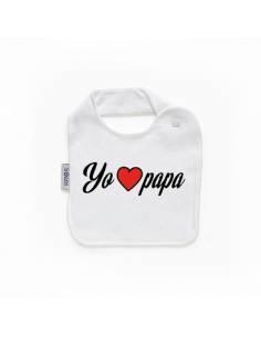 """Babero personilazado """"Yo love papá"""""""