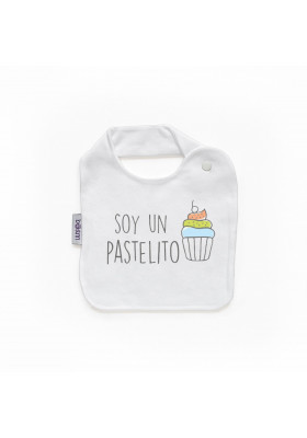 "BABEROS PERSONALIZADOS DIVERTIDOS - Babero personilazado ""Soy un pastelito"""
