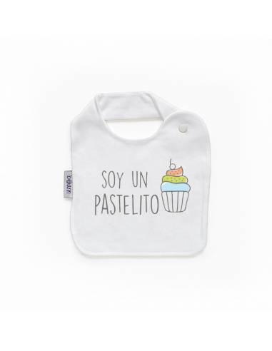 """Babero personilazado """"Soy un pastelito"""""""