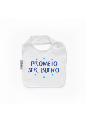 "BABEROS PERSONALIZADOS DIVERTIDOS - Babero personilazado ""Prometo ser bueno"""