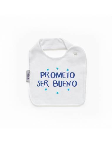 """Babero personilazado """"Prometo ser bueno"""""""