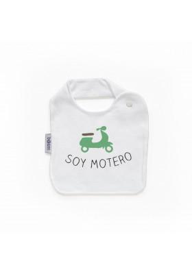 "BABEROS PERSONALIZADOS DIVERTIDOS - Babero personilazado ""Soy motero"""