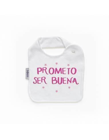 """Babero personilazado """"""""Prometo ser buena"""""""