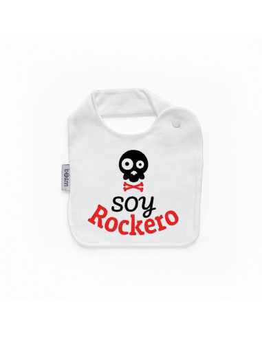"""Babero personilazado """"Soy rockero"""""""