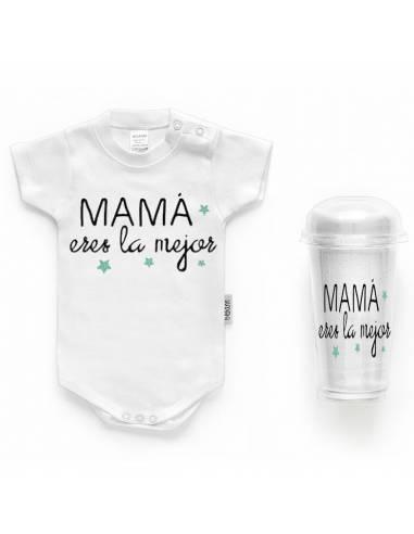 """Body bebé personalizado FRASE """"MAMÁ eres la mejor"""" - Bodys bebé personalizados"""
