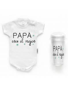 """Body bebé personalizado FRASE """"PAPÁ eres el mejor"""""""