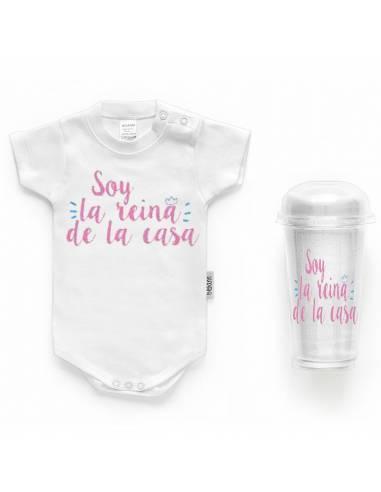 """Body bebé personalizado FRASE """"Soy la reina de la casa"""" - Bodys bebé personalizados"""