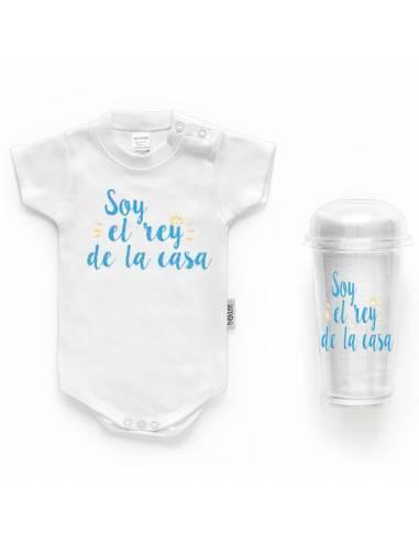 """Body bebé personalizado FRASE """"Soy el rey de la casa"""" - Bodys bebé personalizados"""