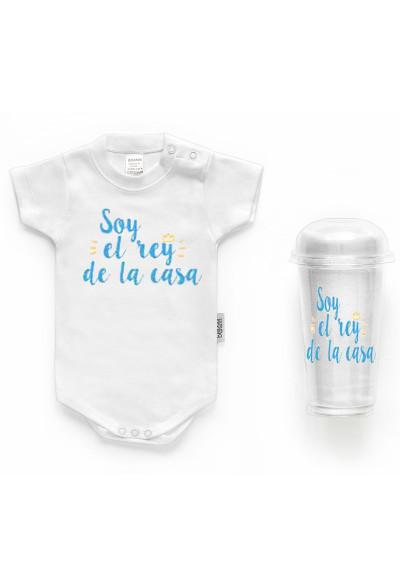 """BODYS BEBÉ PERSONALIZADOS - Body bebé personalizado FRASE """"Soy el rey de la casa"""""""
