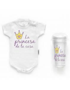 """Body bebé personalizado FRASE """"La princesa de la casa"""""""