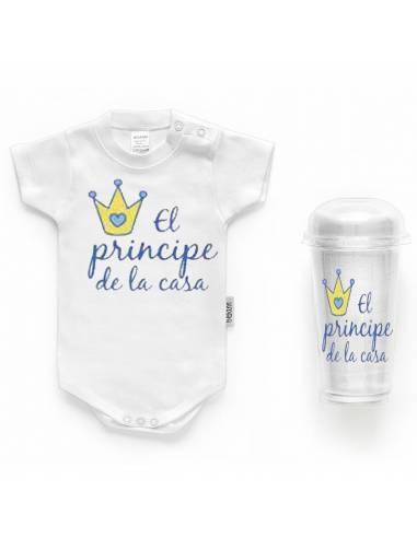 """Body bebé personalizado FRASE """"El príncipe de la casa"""" - Bodys bebé personalizados"""