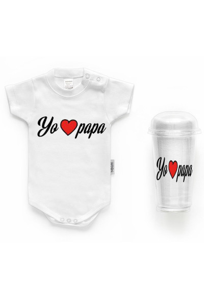 "BODYS BEBÉ PERSONALIZADOS - Body bebé personalizado FRASE ""Yo LOVE papá"""