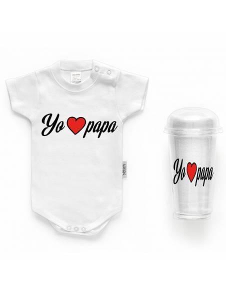 "Body bebé personalizado FRASE ""Yo LOVE papá"" - Bodys bebé personalizados"