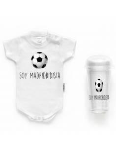 """Body bebé personalizado FRASE """"Soy madridista"""""""