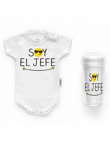 """Body bebé personalizado FRASE """"Soy el jefe"""" - Bodys bebé personalizados"""
