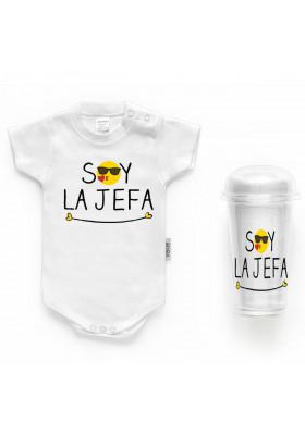 """BODYS BEBÉ PERSONALIZADOS - Body bebé personalizado FRASE """"Soy la jefa"""""""