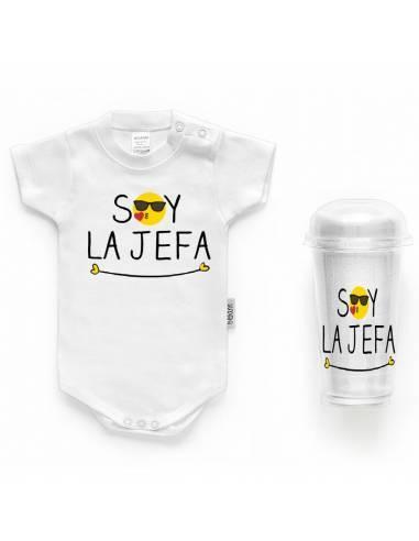 """Body bebé personalizado FRASE """"Soy la jefa"""" - Bodys bebé personalizados"""