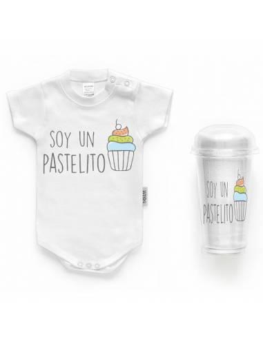 """Body bebé personalizado FRASE """"Soy un pastelito"""" - Bodys bebé personalizados"""