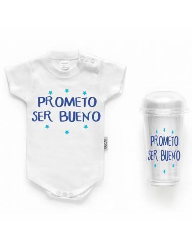 """Body bebé personalizado FRASE """"Prometo ser bueno"""" - Bodys bebé personalizados"""