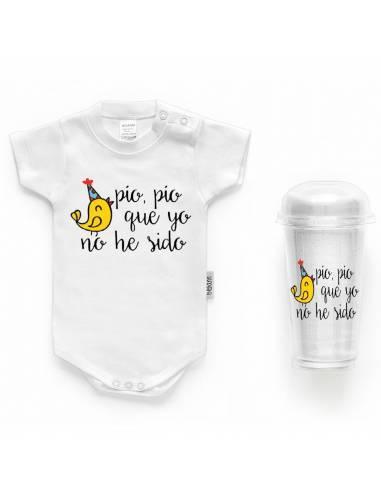 """Body bebé personalizado FRASE """"Pío pío que yo no he sido"""" - Bodys bebé personalizados"""