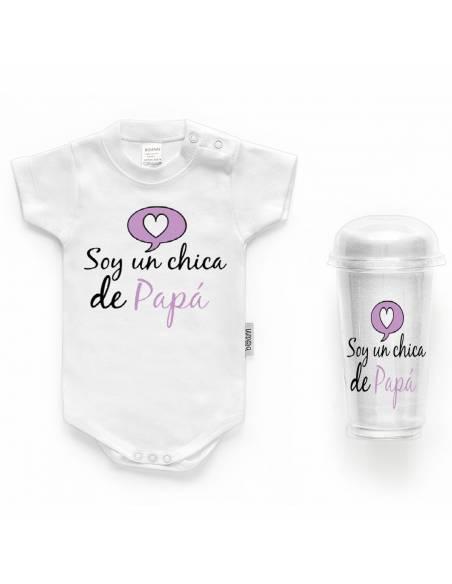 """Body bebé personalizado FRASE """"Soy una chica de papá"""" - Bodys bebé personalizados"""