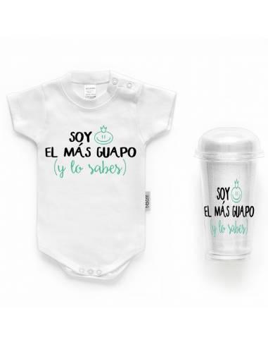 """Body bebé personalizado FRASE """"Soy el más guapo y lo sabes"""" - Bodys bebé personalizados"""