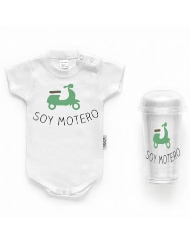 """Body bebé personalizado FRASE """" Soy motero"""" - Bodys bebé personalizados"""
