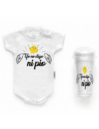 """Body bebé personalizado FRASE """"Yo no digo ni pío"""" - Bodys bebé personalizados"""