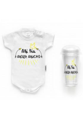 """BODYS BEBÉ PERSONALIZADOS - Body bebé personalizado FRASE """"Mi tía mola mucho"""""""