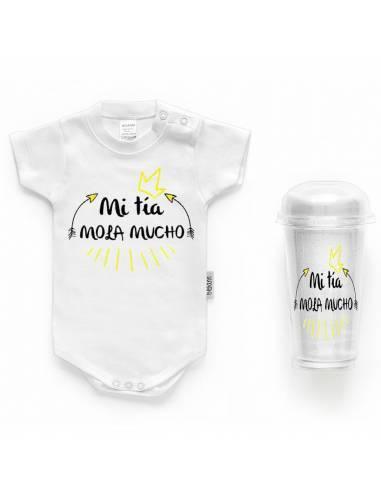 """Body bebé personalizado FRASE """"Mi tía mola mucho"""" - Bodys bebé personalizados"""