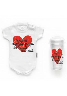 """BODYS BEBÉ PERSONALIZADOS - Body bebé personalizado FRASE """"Tengo el mejor papá del mundo"""""""