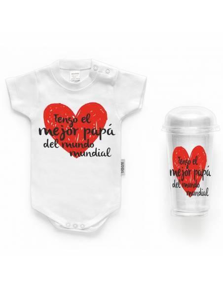 """Body bebé personalizado FRASE """"Tengo el mejor papá del mundo"""" - Bodys bebé personalizados"""