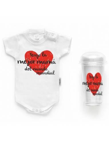 """Body bebé personalizado FRASE """"Tengo la mejor mamá del mundo"""" - Bodys bebé personalizados"""