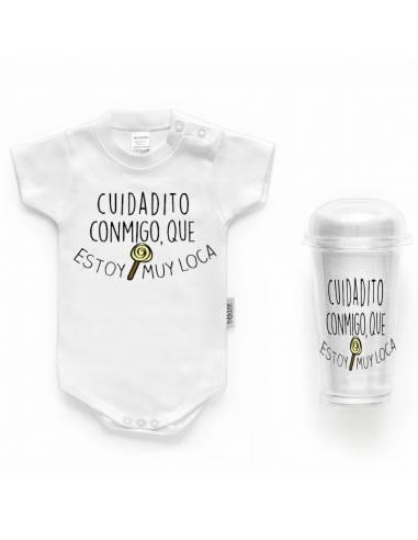 """Body bebé personalizado FRASE """"Cuidadito conmigo que estoy muy loca"""" - Bodys bebé personalizados"""