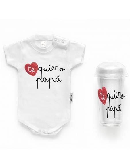"""Body bebé personalizado FRASE """"Te quiero papá"""" - Bodys bebé personalizados"""