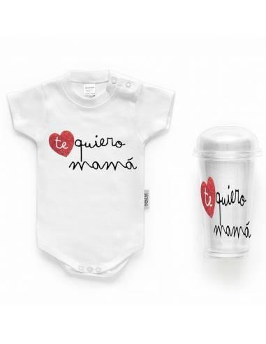 """Body bebé personalizado FRASE """"Te quiero mamá"""" - Bodys bebé personalizados"""