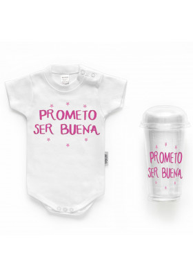 """BODYS BEBÉ PERSONALIZADOS - Body bebé personalizado FRASE """"Prometo ser buena"""""""
