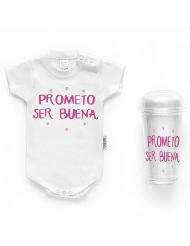 """Body bebé personalizado FRASE """"Prometo ser buena"""" - Bodys bebé personalizados"""