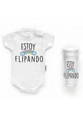 """BODYS BEBÉ PERSONALIZADOS - Body bebé personalizado FRASE """"Estoy flipando"""""""