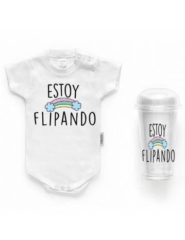 """Body bebé personalizado FRASE """"Estoy flipando"""" - Bodys bebé personalizados"""