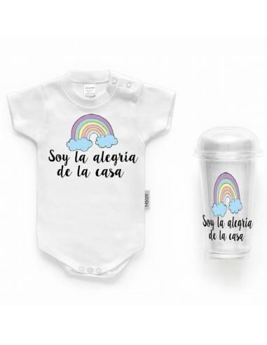 """Body bebé personalizado FRASE """"Soy la alegría de la casa"""" - Bodys bebé personalizados"""