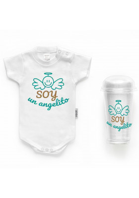"""BODYS BEBÉ PERSONALIZADOS - Body bebé personalizado FRASE """"Soy un angelito"""""""