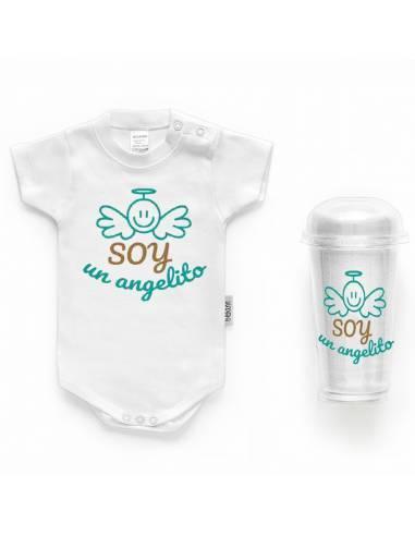 """Body bebé personalizado FRASE """"Soy un angelito"""" - Bodys bebé personalizados"""