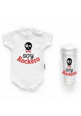 """BODYS BEBÉ PERSONALIZADOS - Body bebé personalizado FRASE """"Soy rockero"""""""