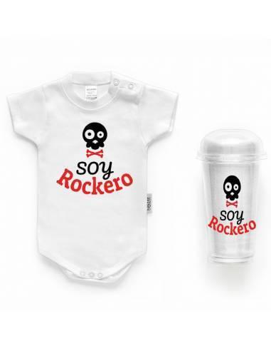 """Body bebé personalizado FRASE """"Soy rockero"""" - Bodys bebé personalizados"""